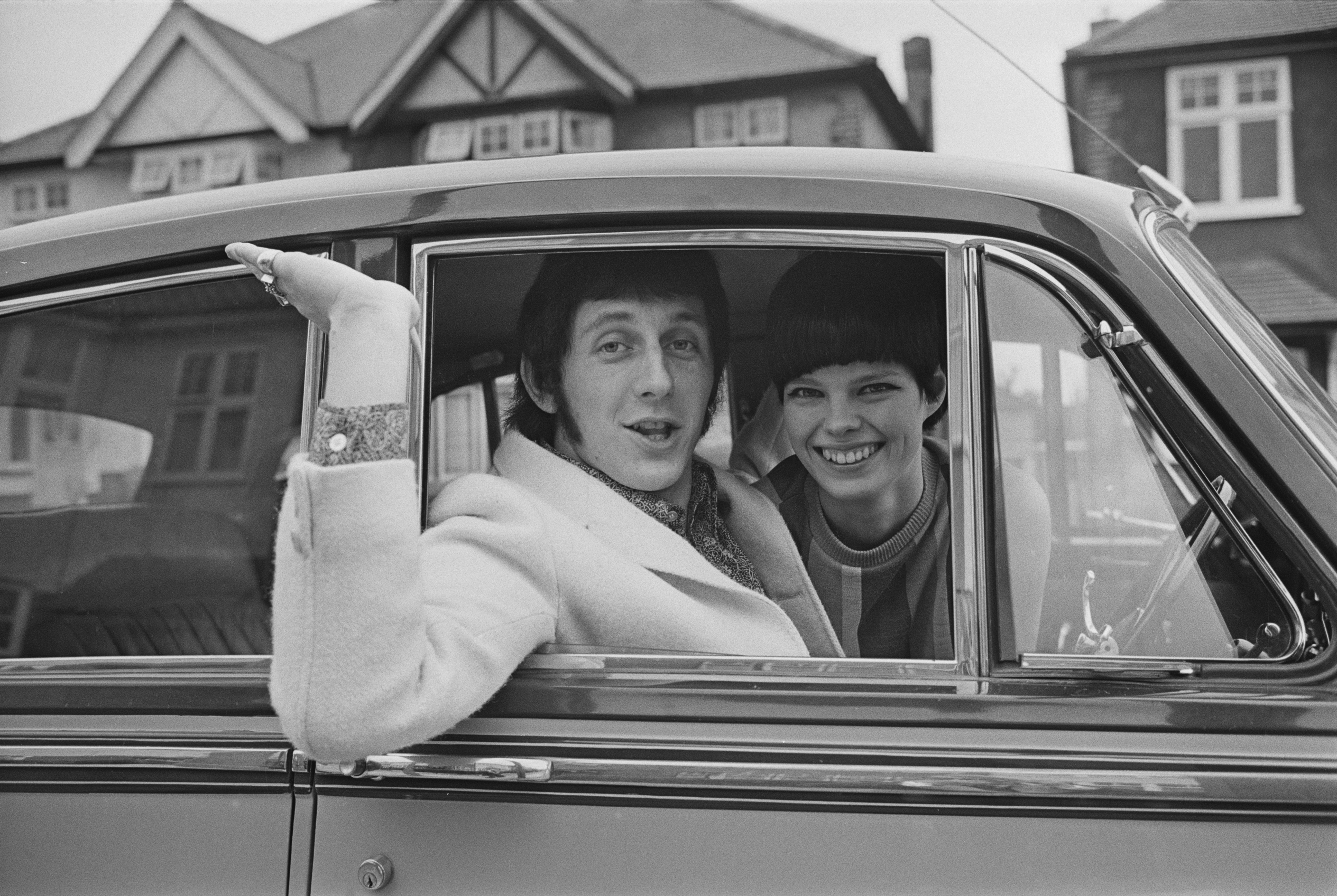 English bass guitarist for 'The Who' John Entwistle and Alison Wise, 17th March 1967. (Photo by Stan Meagher/Daily Express/Hulton Archive/Getty Images)