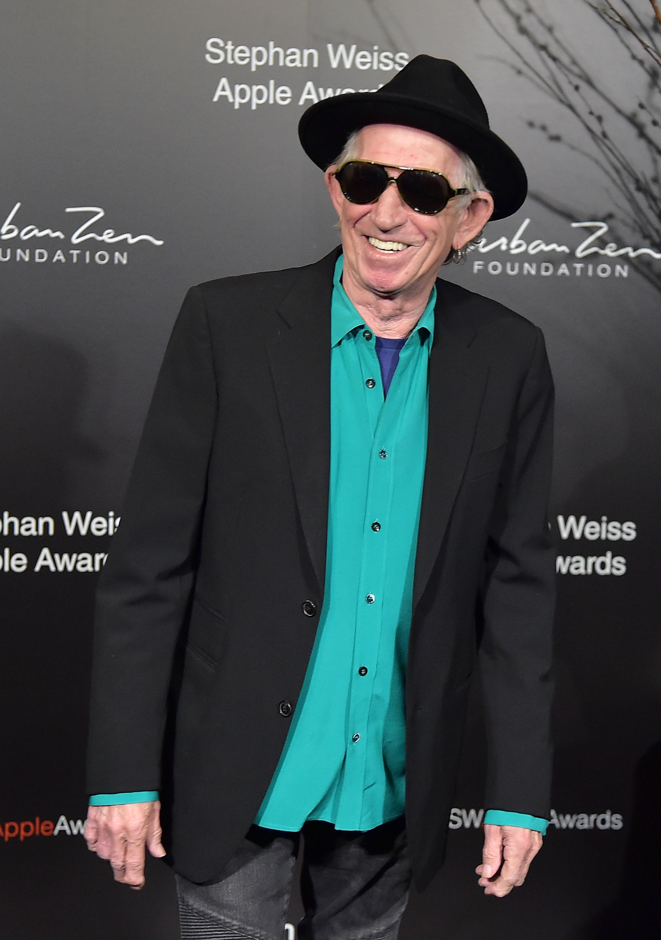 NEW YORK, NY - OCTOBER 24:  Keith Richards attends the 2018 Stephan Weiss Apple Awards at Stephan Weiss Studio on October 24, 2018 in New York City.  (Photo by Theo Wargo/Getty Images)