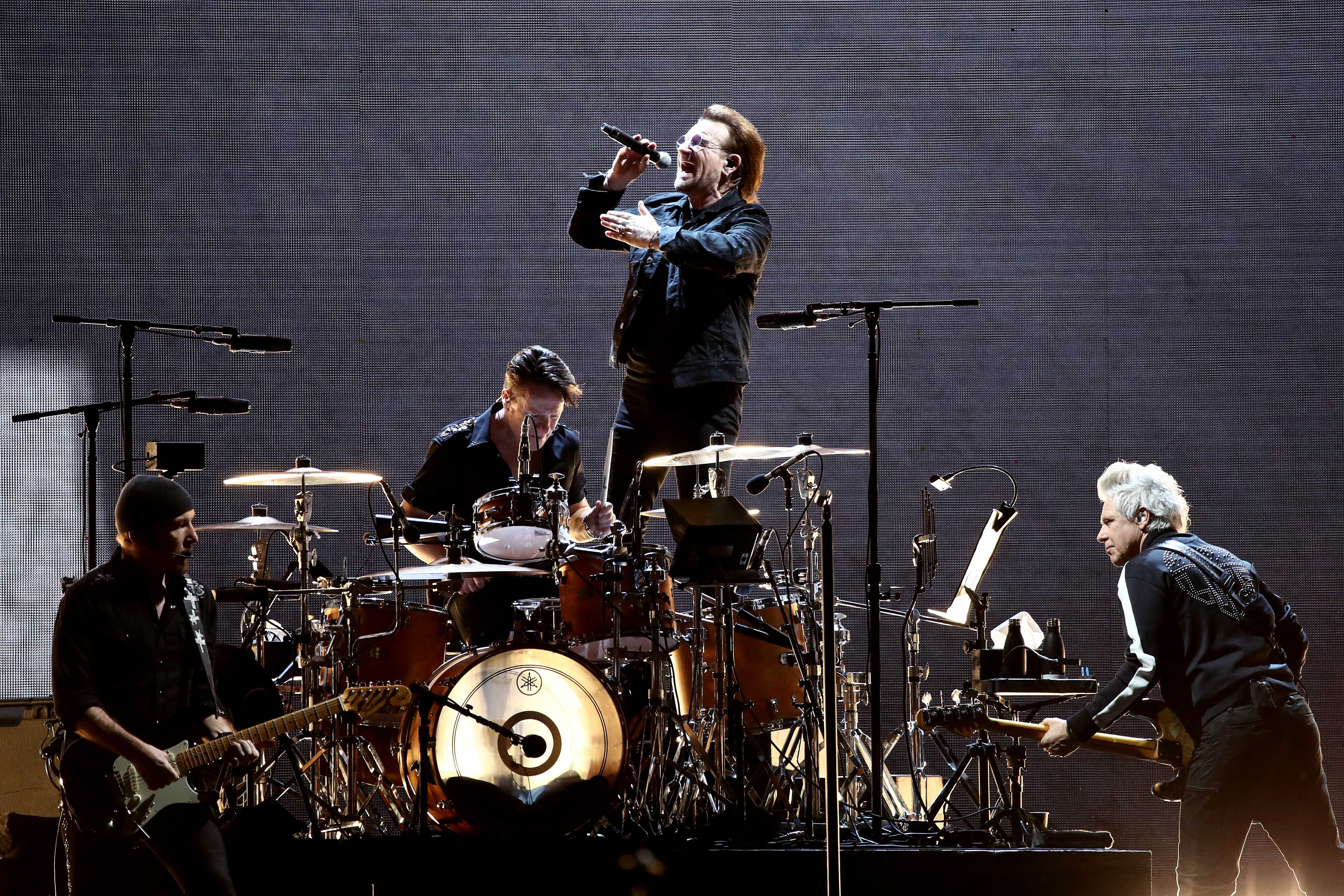 Drummer Larry Mullen, Jr., who was only 14 at the time, posted a note on a bulletin board at his high school saying he was looking for musicians to start a band. Six people responded to the note, and among them were Paul Hewson (Bono), David Evans (The Edge) and Adam Clayton. Who would have thought that a simple note would evolve into one of the biggest bands in history?