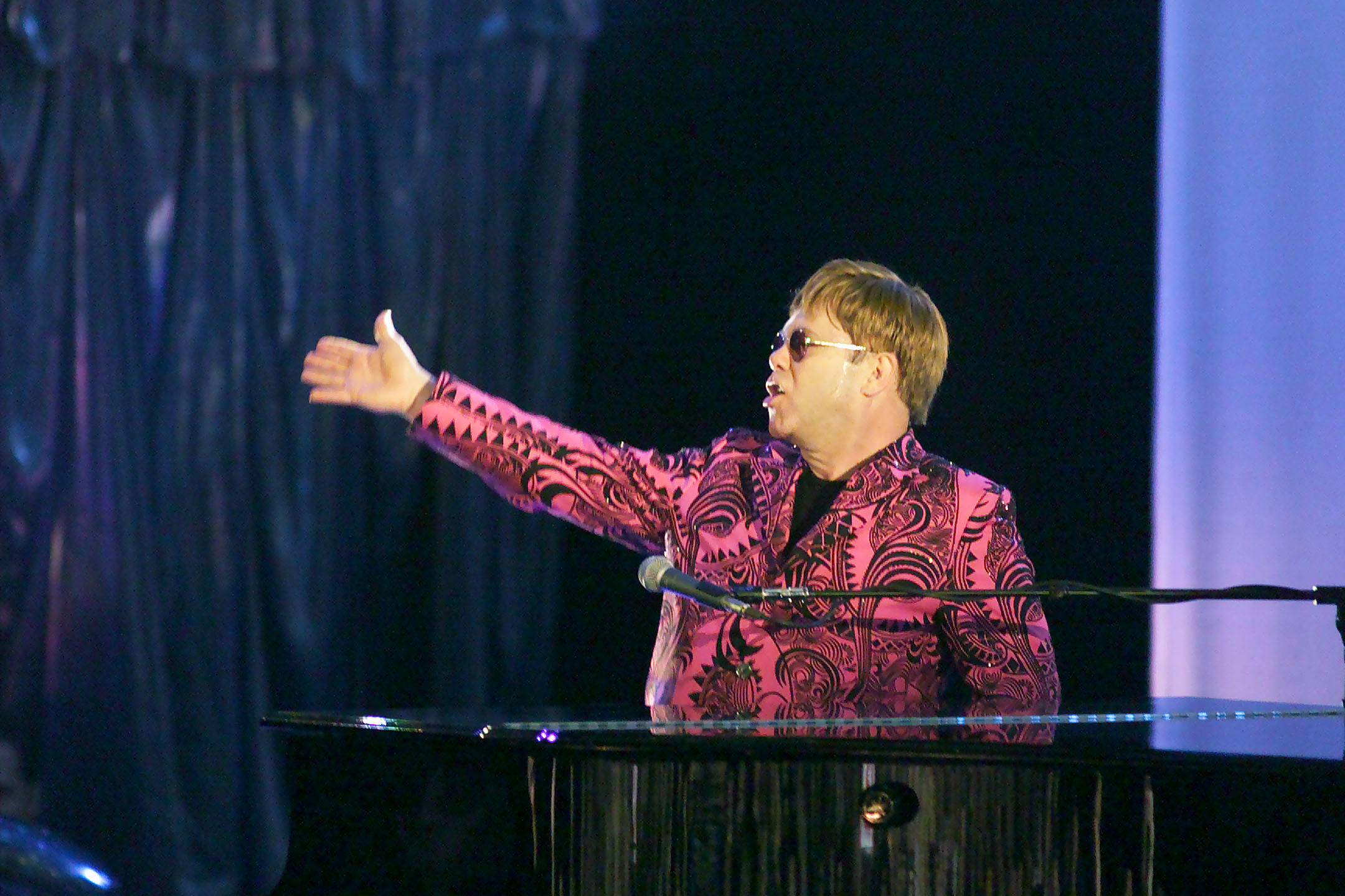Note to self: No matter how hard you try, Elton's blazer game will be superior to pretty much anyone else on the face of the Earth.