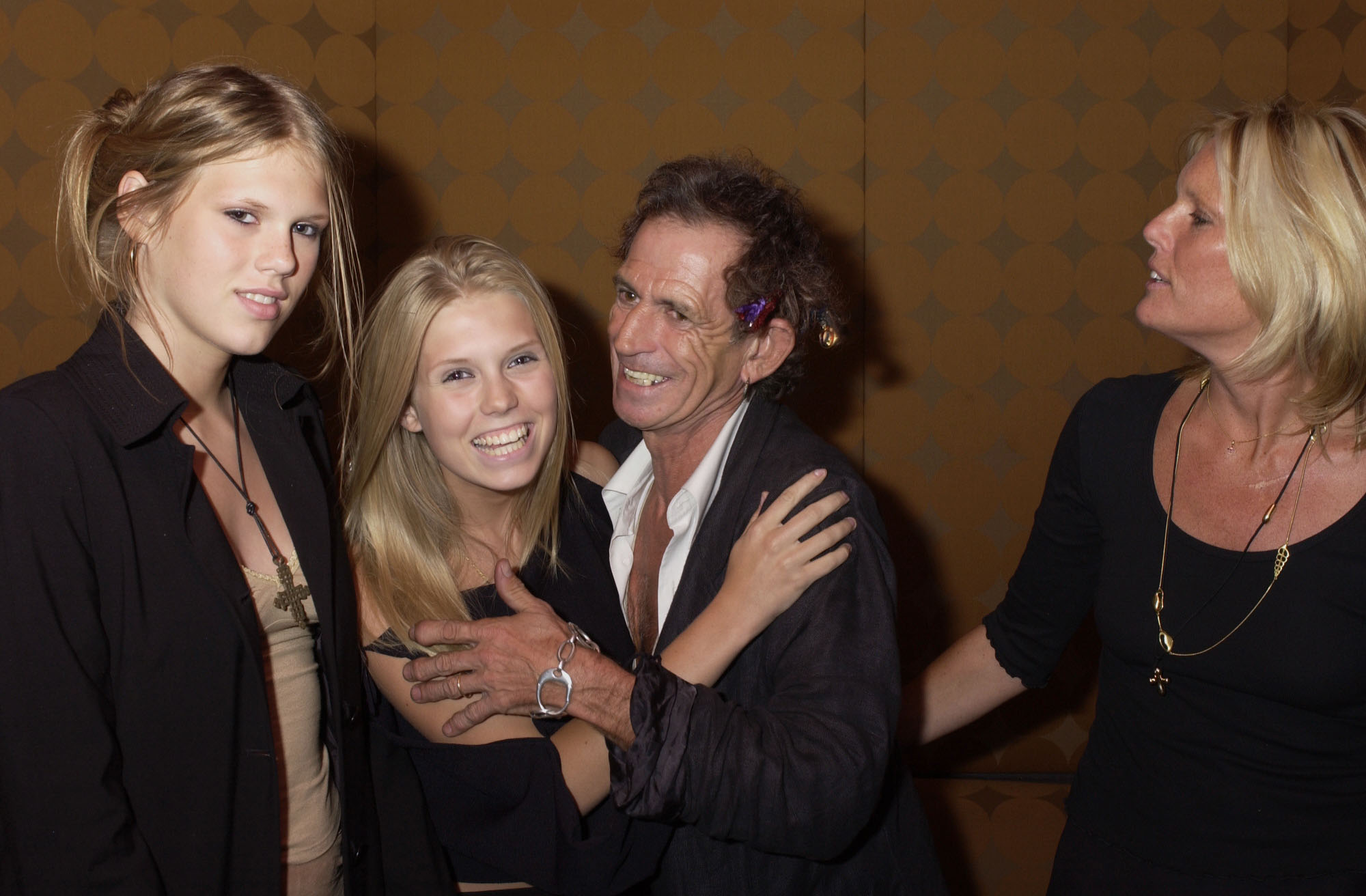 """Keith Richards and family at the post screening party  at Lotus after the New York premiere of """"Lisa Picard is Famous""""  in New York City on  August 15, 2001.  photo by Gabe Palacio/ImageDirect"""