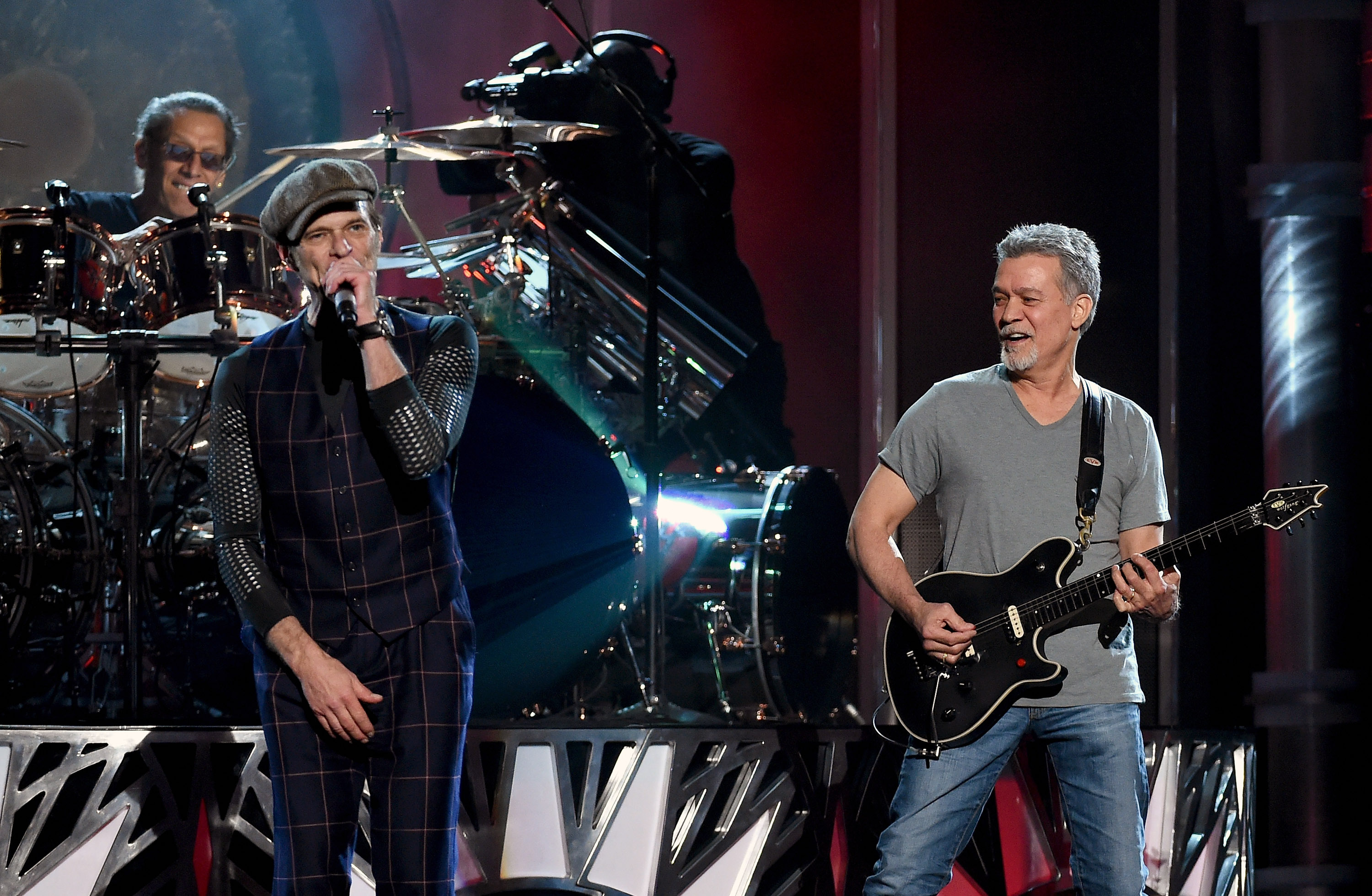 Obviously, this story starts with brothers Eddie and Alex, but those two came across David Lee Roth, because they would often rent his PA system. Roth at that time was in a band called the Red Ball Jets. The brothers Van Halen, in an effort to save money, asked Roth to join the band and bring his PA with him. The rest is history.