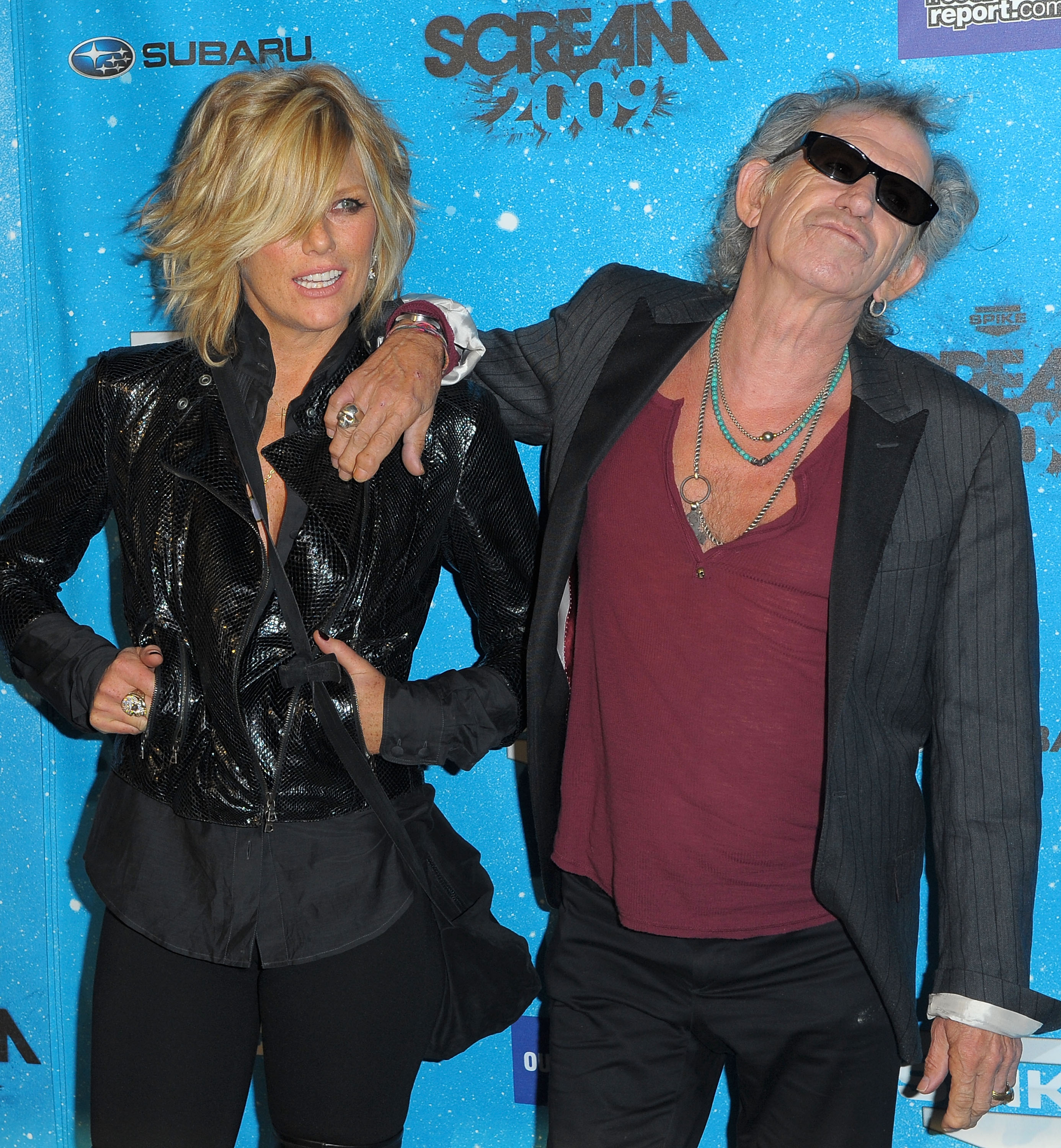 LOS ANGELES, CA - OCTOBER 17:  Keith Richards, right, and wife Patti Hansen arrive at Spike TV's Scream 2009 held at the Greek Theatre on October 17, 2009 in Los Angeles, California.  (Photo by Jason Merritt/Getty Images)