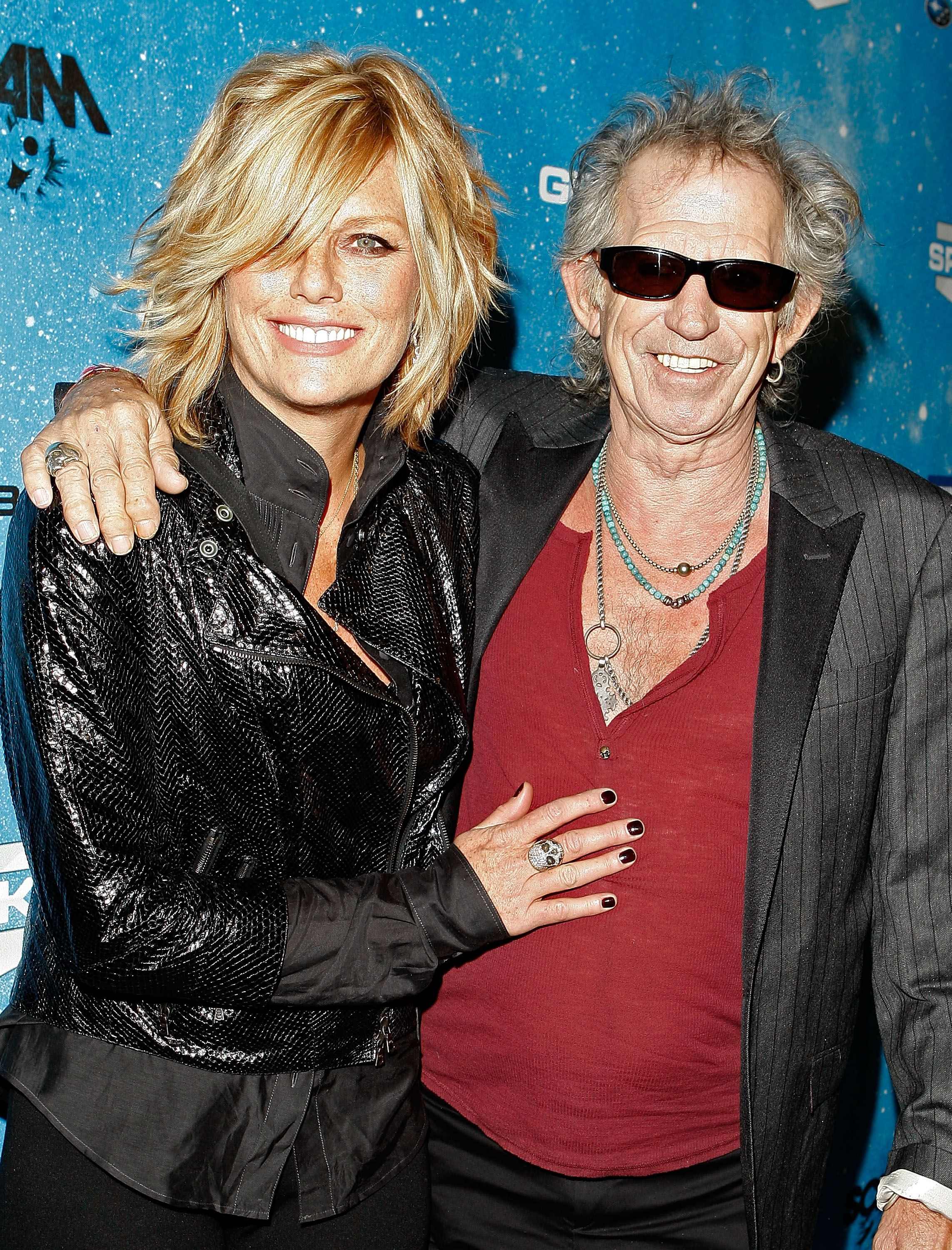 LOS ANGELES, CA - OCTOBER 17:  Patti Hansen (L) and musician Keith Richards arrive at Spike TV's Scream 2009 held at the Greek Theatre on October 17, 2009 in Los Angeles, California.  (Photo by Chris Polk/Getty Images)