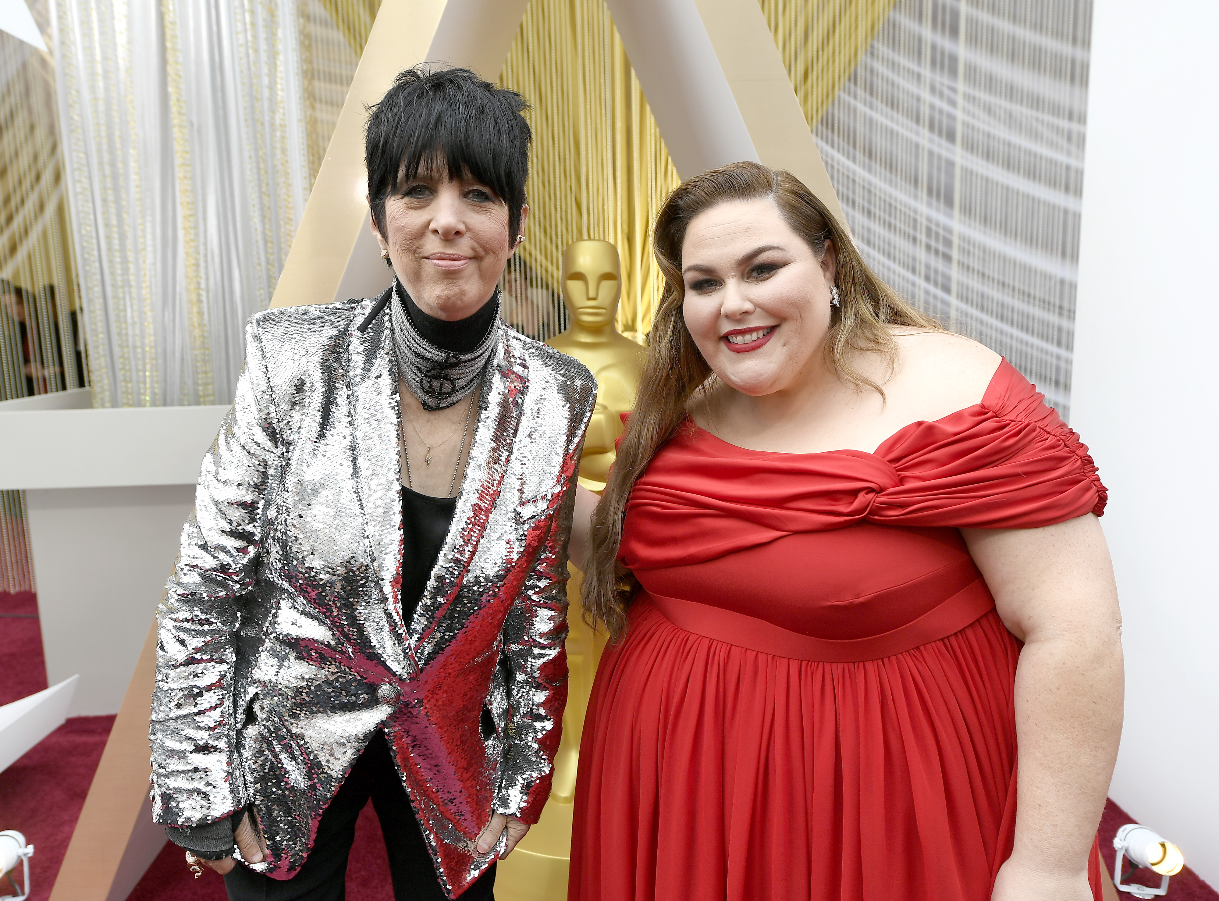 HOLLYWOOD, CALIFORNIA - FEBRUARY 09: Diane Warren and Chrissy Metz attends the 92nd Annual Academy Awards at Hollywood and Highland on February 09, 2020 in Hollywood, California. (Photo by Kevork Djansezian/Getty Images)