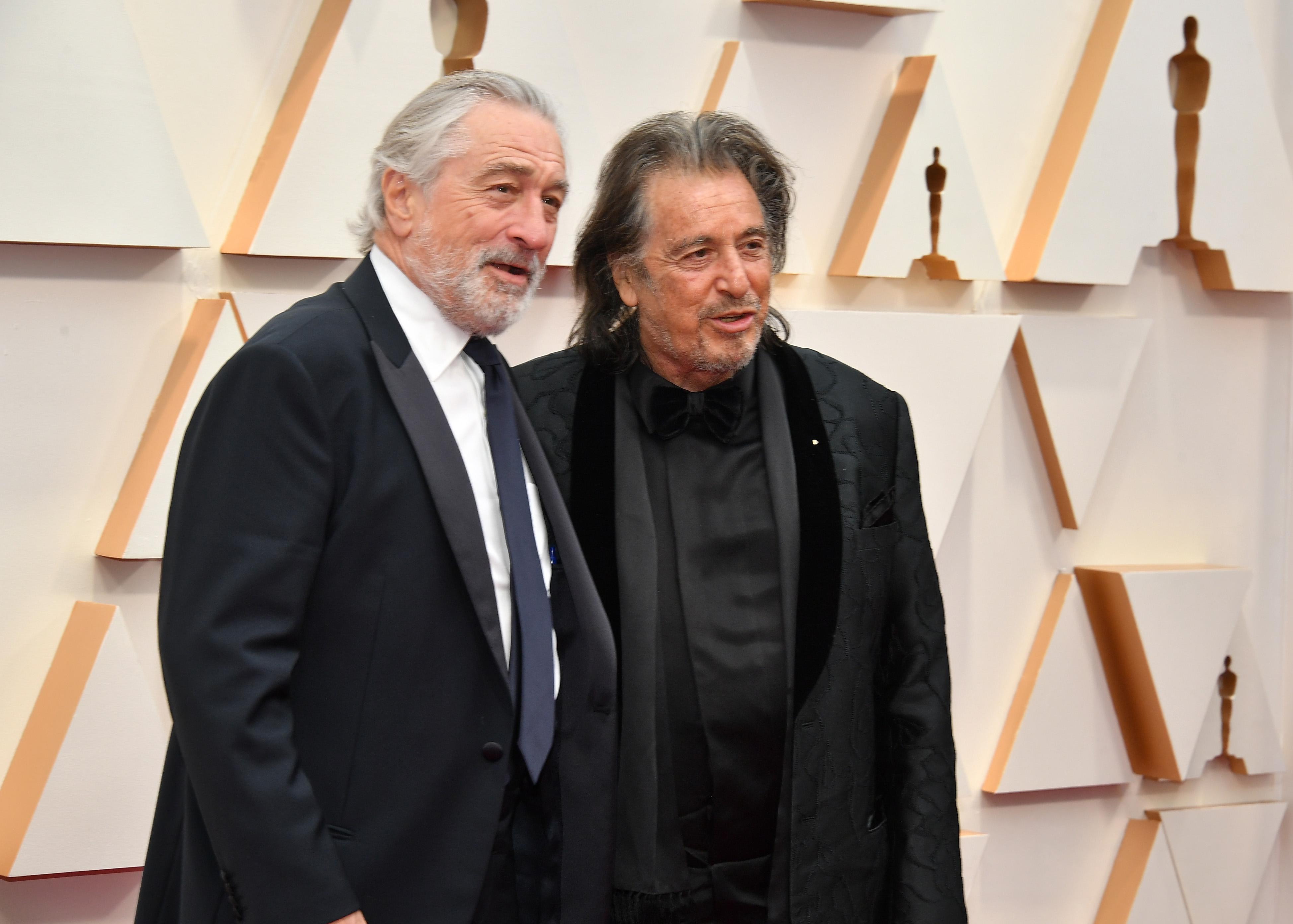 HOLLYWOOD, CALIFORNIA - FEBRUARY 09: (L-R) Robert De Niro and Al Pacino attend the 92nd Annual Academy Awards at Hollywood and Highland on February 09, 2020 in Hollywood, California. (Photo by Amy Sussman/Getty Images)