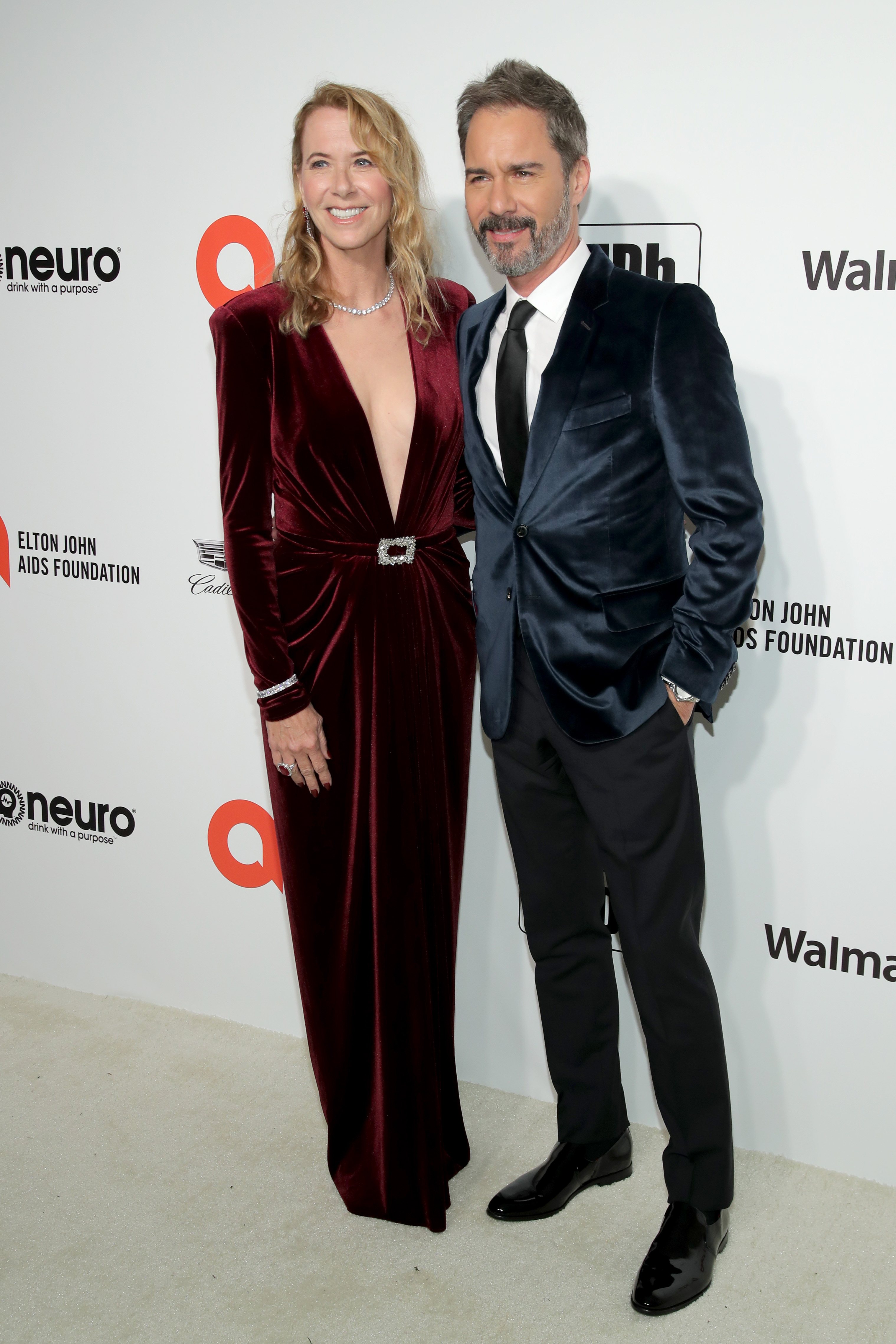 WEST HOLLYWOOD, CALIFORNIA - FEBRUARY 09: (L-R) Janet McCormack and Eric McCormack attend the 28th Annual Elton John AIDS Foundation Academy Awards Viewing Party sponsored by IMDb, Neuro Drinks and Walmart on February 09, 2020 in West Hollywood, California. (Photo by Jemal Countess/Getty Images)