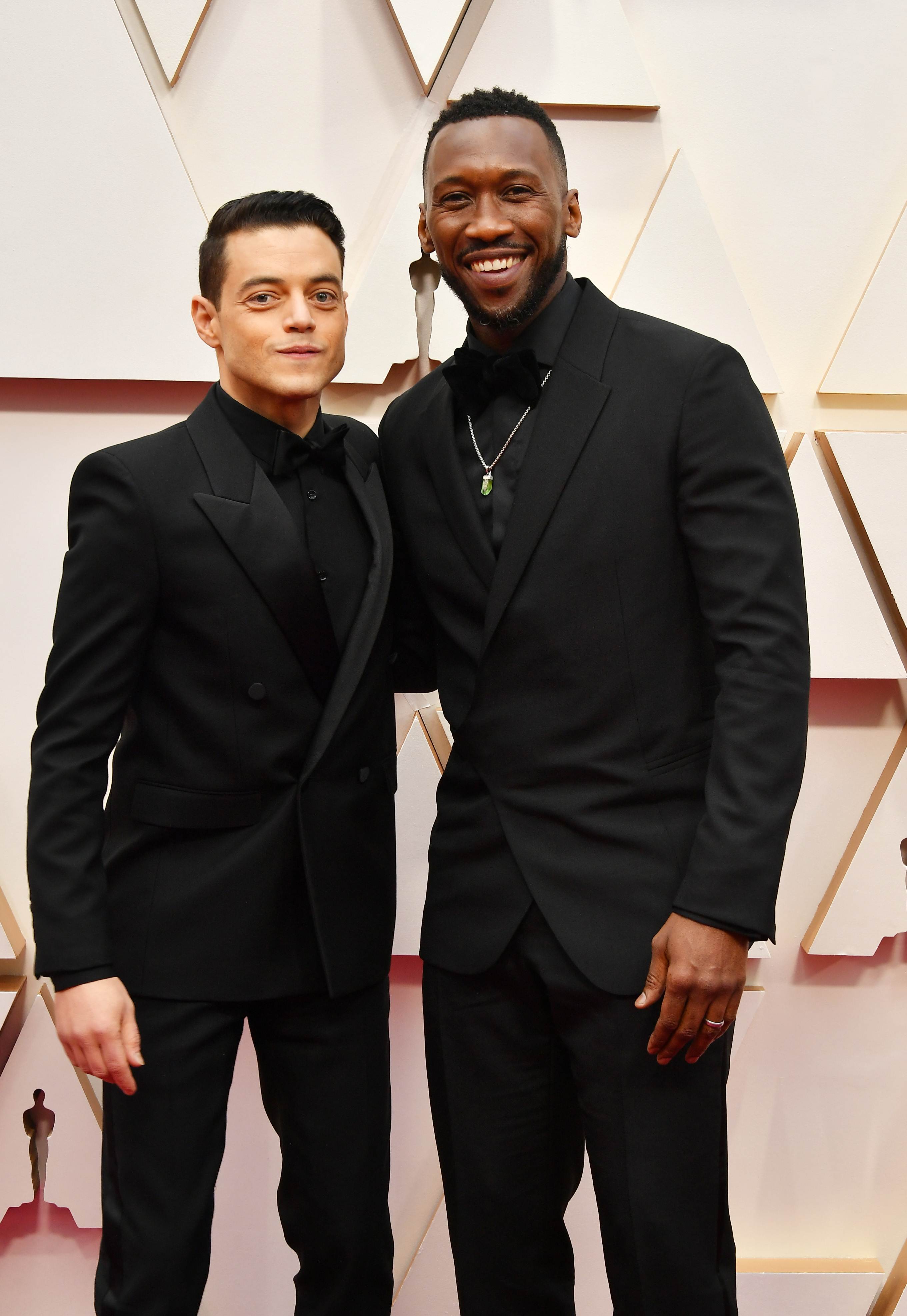 HOLLYWOOD, CALIFORNIA - FEBRUARY 09: (L-R) Mahershala Ali and Rami Malek attend the 92nd Annual Academy Awards at Hollywood and Highland on February 09, 2020 in Hollywood, California. (Photo by Amy Sussman/Getty Images)